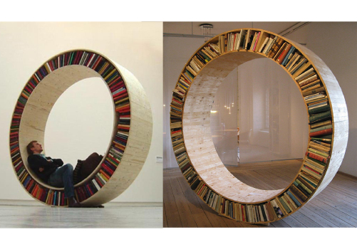 Circular Bookshelf by designer David Garcia